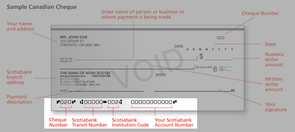 how to find your scotiabank account number